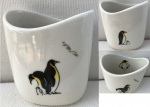 Small Oval Vase Penguins