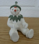 Large Clown Sitting Green