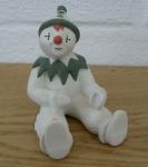 Large Clown Sitting Green