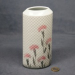 Oval Embossed Vase Carnations - 18 cm