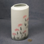 Oval Embossed Vase Carnations - 21cm