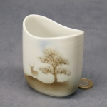 Small Oval Vase Stag