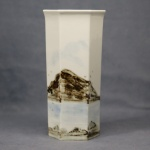 Large Hexagonal Vase Seascape
