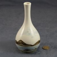 Round Bud Vase Seascape