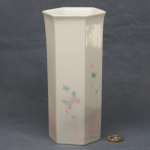Large Hexagonal Vase Butterflies