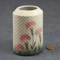 Oval Embossed Vase Carnations - 12 cm