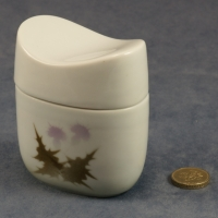 Oval Lidded Pot Thistle