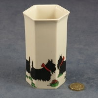 Small Hexagonal Vase Scottie Dogs