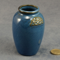 Round Vase Celtic Blue