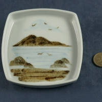 Square Pin Dish Seascape