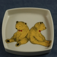 Square Pin Dish Teddy Bears