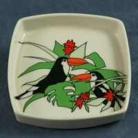 Square Pin Dish Toucans