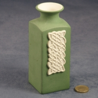 Square Vase Celtic Green