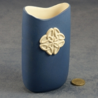 Tall Oval Vase Celtic Blue