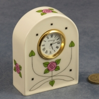 Arched Clock Flowers