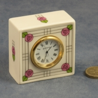 Square Clock Flowers