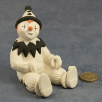 Large Clown Sitting Black