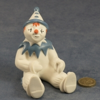 Large Clown Sitting Blue