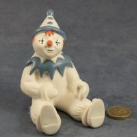 Large Clown Sitting Blue