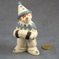 Large Clown Standing Blue with Accordian