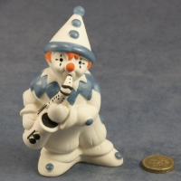 Large Clown Standing Blue with Saxophone