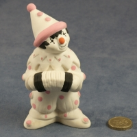 Large Clown Standing Pink Dots with Accordian