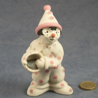 Large Clown Standing Pink Dots with Bucket