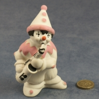 Large Clown Standing Pink with Saxophone