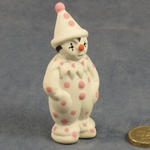 Small Clown Standing Pink Dots