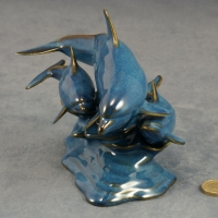 Dolphin - Family - Blue Glazed