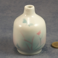 Small Round Bud Vase Butterflies