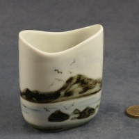 Small Oval Vase Seascape