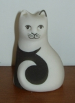 S004 - Cat - Black and White Seated