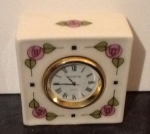 Square Clock Flowers 2