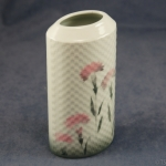 Oval Embossed Vase Carnations - 16 cm