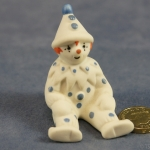 Small Clown Sitting Blue Dots