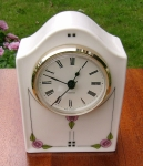 Large Arched Clock Flowers