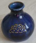 Round Vase Celtic - Colbalt Blue