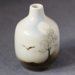 Small Round Bud Vase Tree and Bird