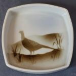 Square Pin Dish Pheasant