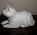 Cat Laying Down - White