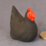 M004 - Mini Black Hen