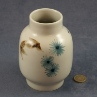 Large Round Vase Blue and Brown Pattern