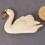Brooch - Swan