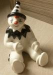 Large Clown Sitting Black Gloss