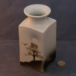 Large Square Vase Tree and Bird