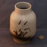 Large Round Vase Grasses