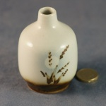 Small Round Bud Vase Grasses and Moon
