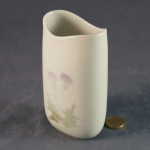 Tall Oval Vase Thistle