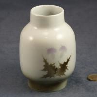 Large Round Vase Thistles